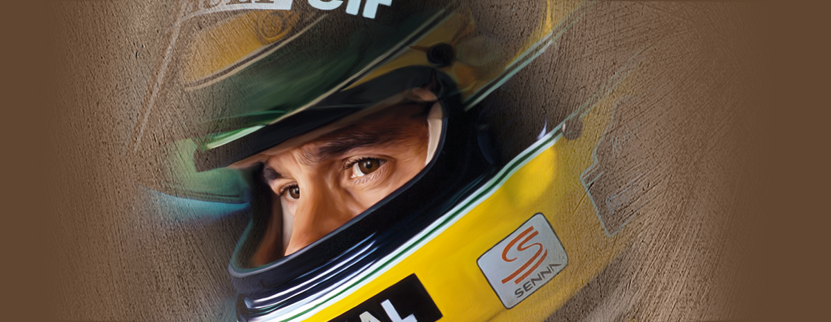 Portrait peint sur toile Ayrton Senna